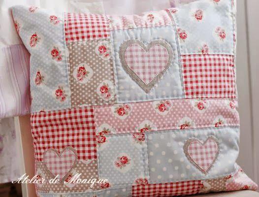1000 images about patchwork pillow ideas on pinterest - Cojines de patchwork ...
