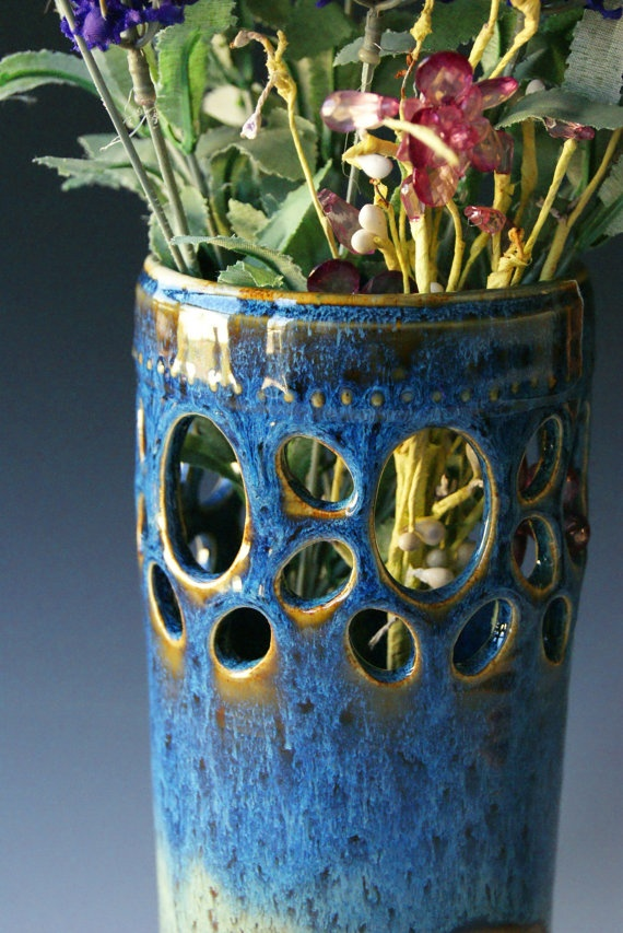 Vase / Handmade WheelThrown Ceramic Pottery / by riverstonepottery, $60.00