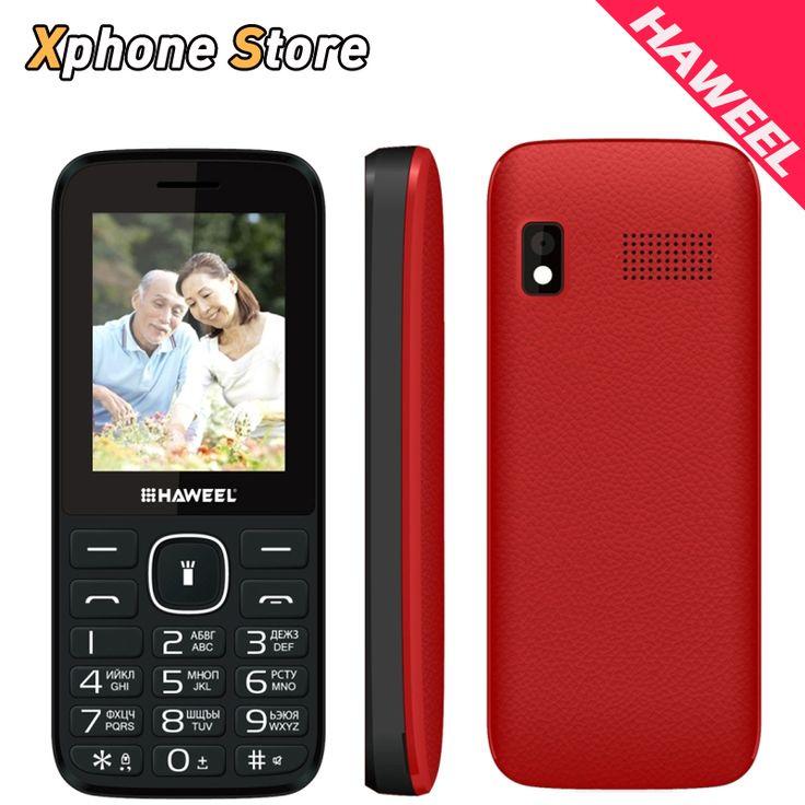Original Haweel X1 CellPhone Russian Keyboard 2.4 inch Dual SIM Super Big Speaker Elder Phone FM TF Torch Cheap Phones