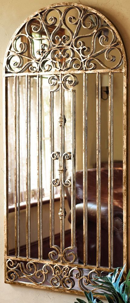 Antique grill with mirror