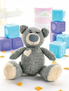 Oliver the Teddy free knitting pattern for teddy bear | Teddy Bear and Favorite Bear knitting patterns at http://intheloopknitting.com/free-teddy-bear-knitting-patterns/