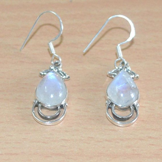 Hurry Last Chance !!! 10% Discount for all products Limited Time Period (Till 15-Sep-2014)- Use Code DEV008 Classic Design Earring of Rainbow Moonstone in by DevmuktiJewels, $15.00