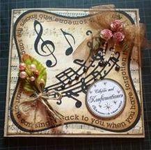 konfirmationskort til musikglad pige