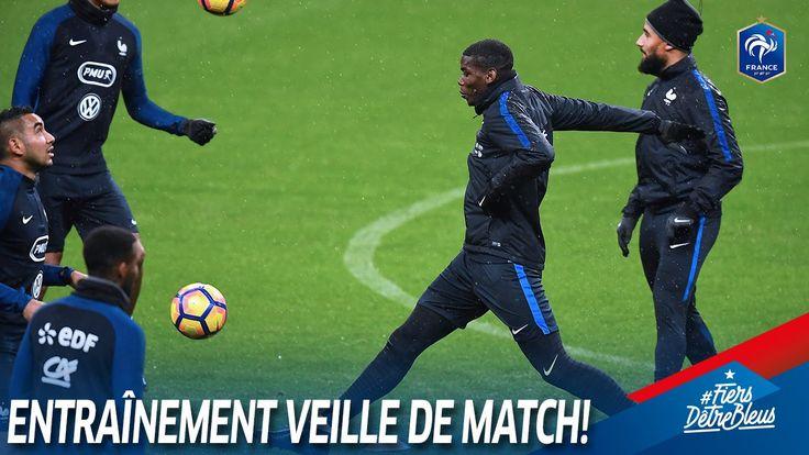 Dernier entraînement des Bleus sur la pelouse du Stade de France ! #FiersdetreBleus France-Suède à 20h45 sur TF1