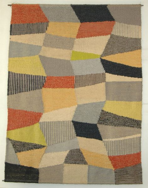 "by Gunta Stölzl.  Bauhaus in Germany means ""house of construction"" but it could be a movement that happened in an Art School of Germany. Bauhaus was famous of their new approached in design and fine arts. And these are the women of Bauhaus who made their own textiles."