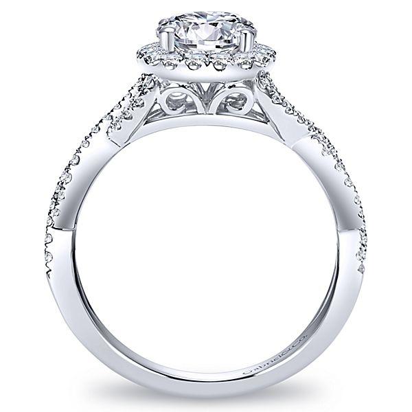 gabriel marissa 14k white gold round halo engagement ring - Wedding Diamond Rings
