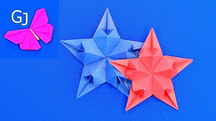 Оригами новогодняя звезда