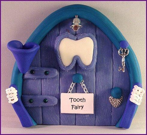 Polymer Clay Fairy Door  Boys Tooth Fairy by MistsofAzura on Etsy, £15.00