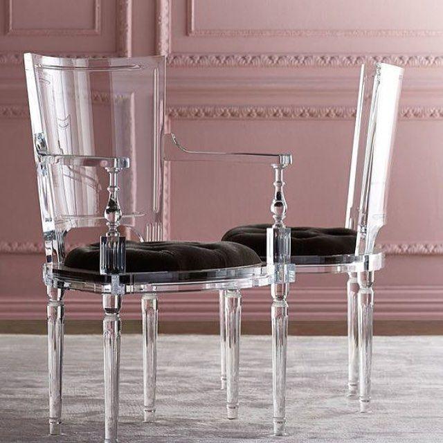 Acryl Möbel, Acryl Stuhl, Ausgefallene Möbel, Möbeldesign, Armstühle,  Geisterstühle, Eßzimmerstühle, Esszimmer, Esstisch