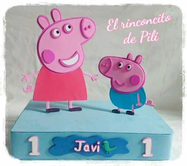 Centro cumpleaños Peppa Pig