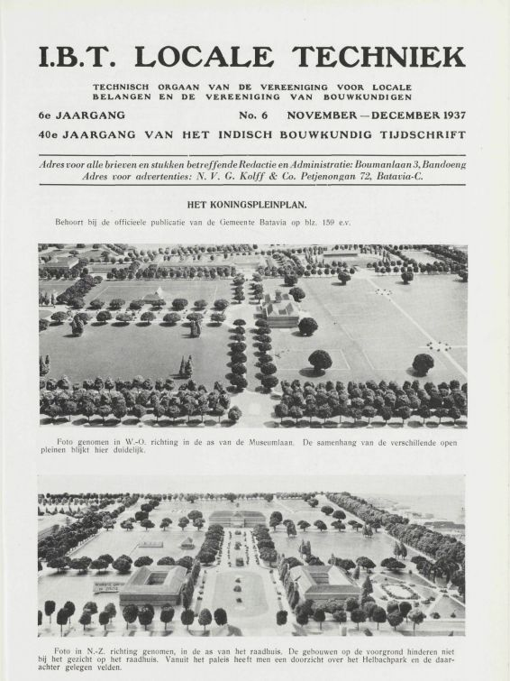 INDISCH BOUWKUNDIG TIJDSCHRIFT I.B.T. LOCALE TECHNIEK TECHNISCH ORGAAN VAN DE VEREENIGING VOOR LOCALE BELANGEN EN DE VEREENIGING VAN BOUWKUNDIGEN 6e JAARGANG No. 6 NOVEMBER— DECEMBER 1937 40e JAARGANG