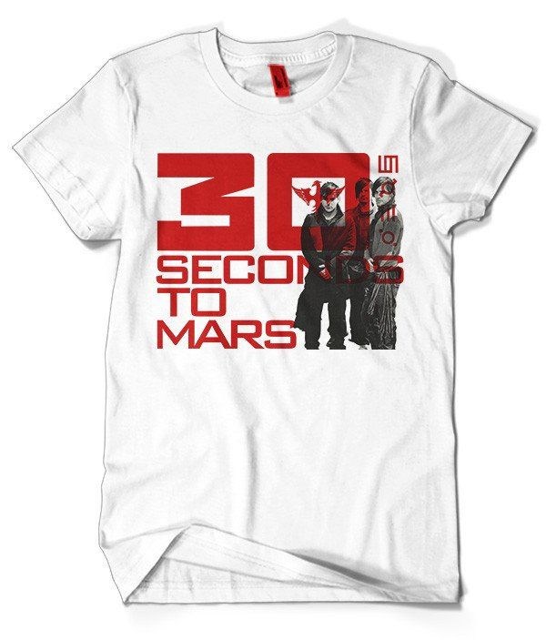 Thirty Seconds to Mars T-Shirt Merch official licensed music t-shirt. Gildan Unisex SoftStyle S, M, L, XL. Free shipping USA, UK and worldwide.