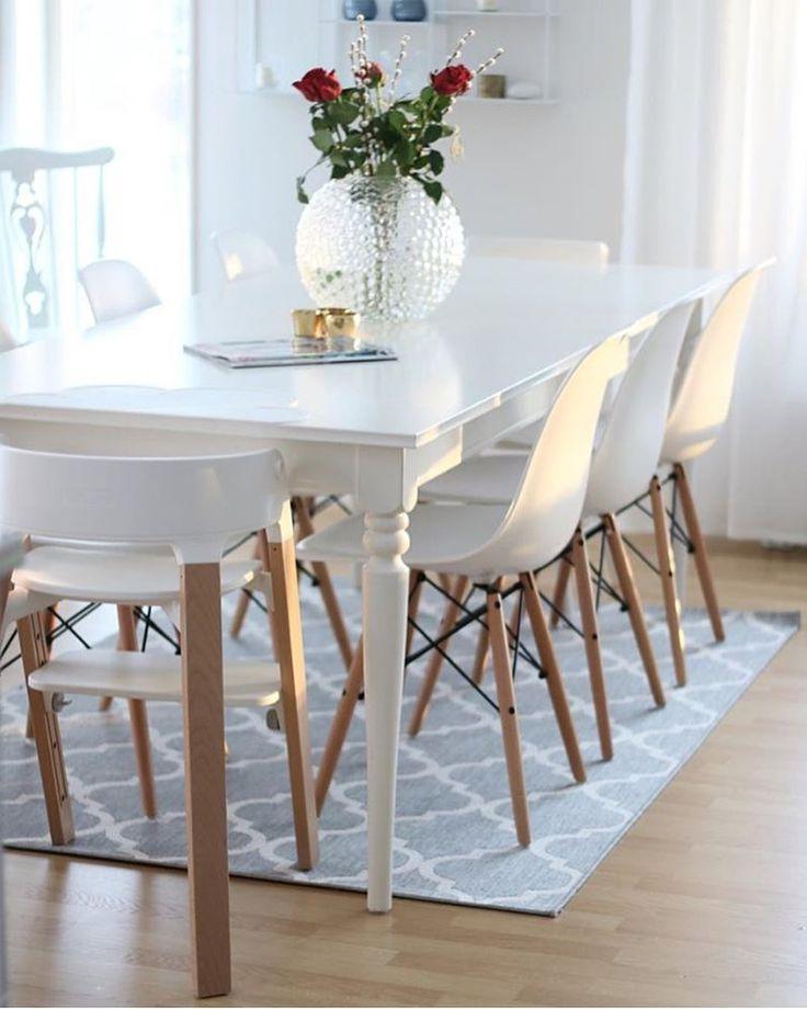 Säger godmorgon med den här fina bilden hos @angelicas.hem älskar allt på bilden! #gofollow #onetofollow Äntligen är mina stolar också leveransklara nu så de kommer om ca 2 veckor! Nu måste jag bara bestämma mig för ett runt vitt matbord! Sååå svårt! Men nu är det fredag hörni! #angelicashem #inspohome #interiordesign #eames #plazainteriör #inredningsdesign by interiorbyrim