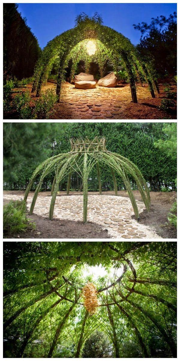 Um jardim para cuidar: Estruturas em ramos de salgueiro !