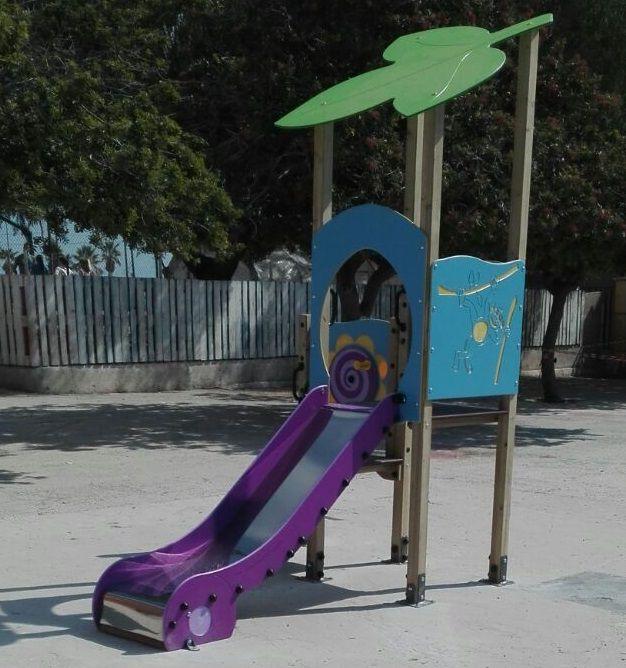 Tobogán parques públicos. 3 a 6 años. GPM12831MD. Uso público, IndalChess.com Tienda de juguetes online y juegos de jardin