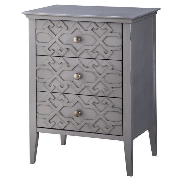 Threshold Fretwork Accent Table Target Design