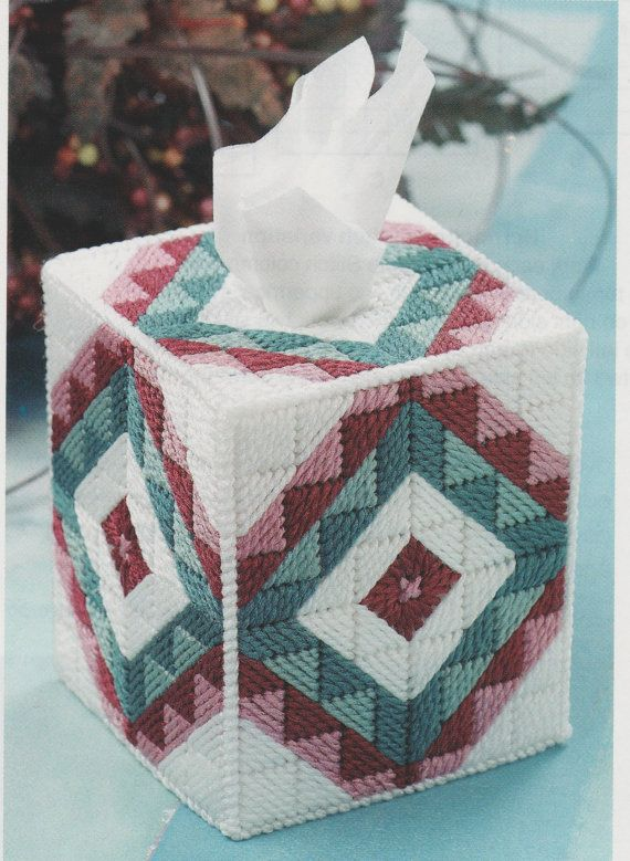 28 best images about plastic canvas on pinterest plastic for Tissue box cover craft