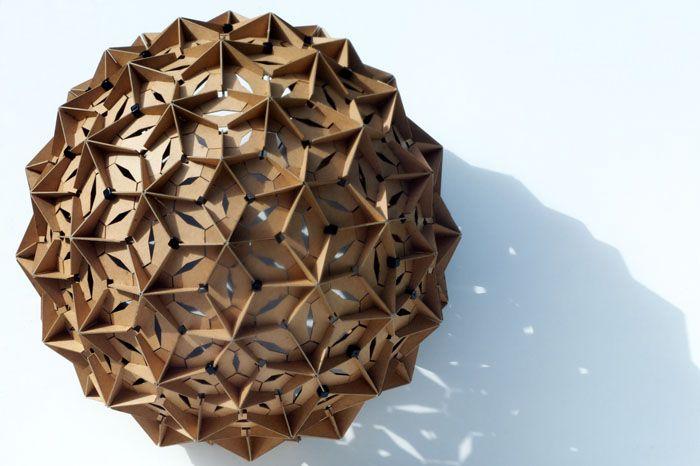 Sphère en carton - acoustique