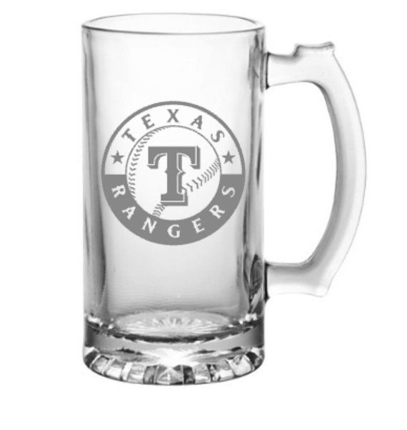 Texas Rangers Beer Mug, Rangers Baseball, Beer Glass, Gift for Dad, Wedding Party Gifts, Gift for Husband, Baseball Lover