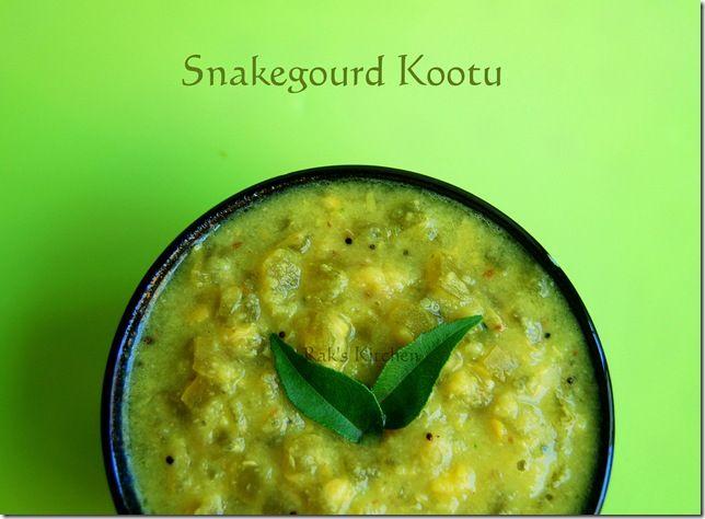 SNAKE GOURD KOOTU (Lentils with snake gourd)