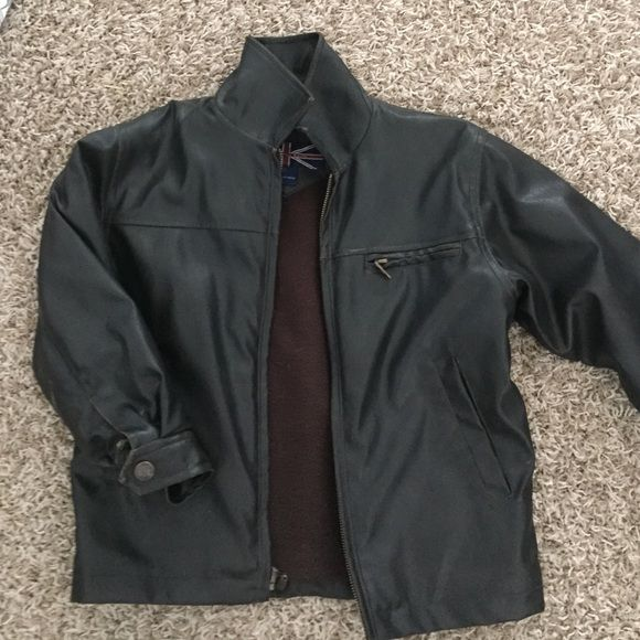 Leather Jacket Size Age 5 for Boys Leather jacket for boys size 5. Fit my brother until he was 6. In great condition. Jackets & Coats