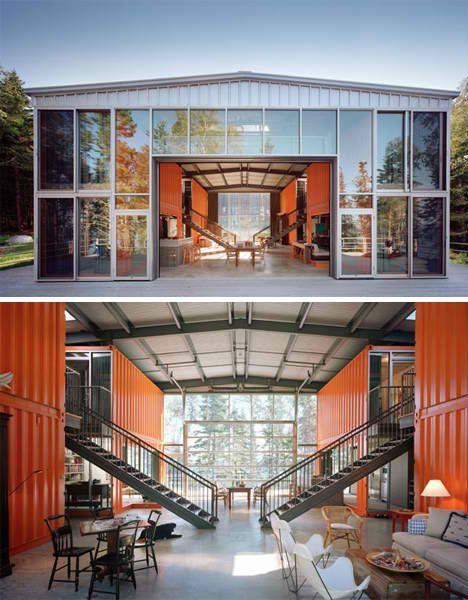 Shipping Container Projects Vacation Housing  -Its amazing how you can build a small community of sorts out of shipping containers -The Saint