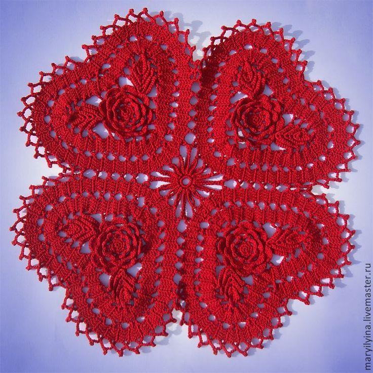 Hobilendik Kırmızı Kalpli Dantel