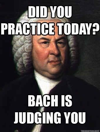 That actually makes me want to practice....don't judge me, Bach!