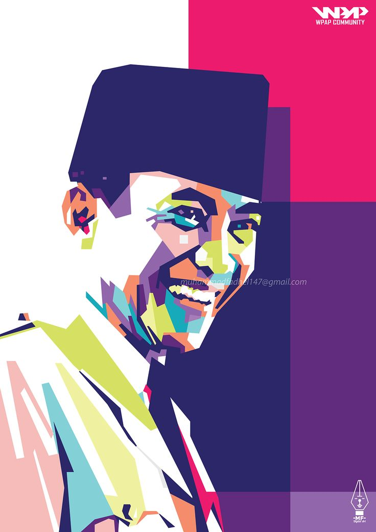 """Check out my @Behance project: """"President Soekarno in WPAP""""…"""