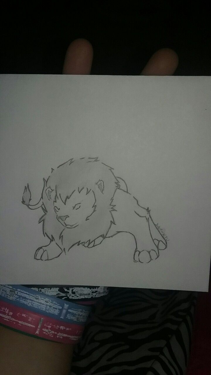 This little Lion i drew in Spanish class cuz we were watching The Lion King... in Spanish.