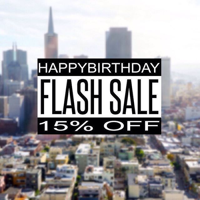 "15% OFF EVERYTHING FLASH SALE Today Only! Grab some shwag on the cheap in celebration of us being in business for a year!  And here, have some Birthday Cake!  Use the Promo Code ""HAPPYBIRTHDAY"" upon check out to receive your 15% OFF. Thank You SO MUCH for supporting us!  #wearethetentmakers #lifestylemissionary #lifestyleapparel #flashsale"