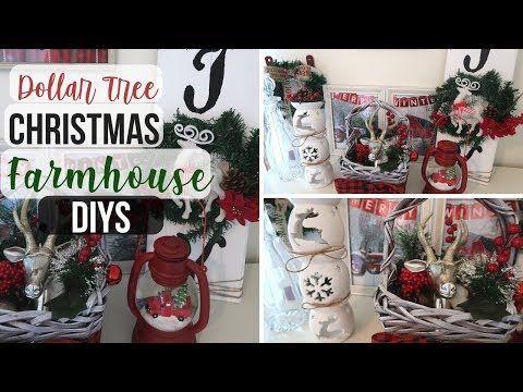 DIY Dollar Tree Christmas Farmhouse Decor | 3 Rustic Christmas Decor | Dollar Tr…