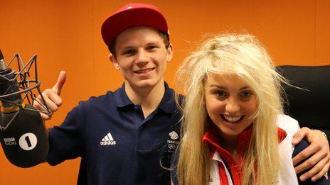 Jamie Nicholls and Amiee Fuller @ The BBC