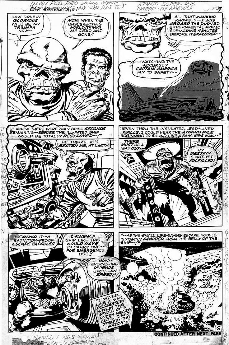 The Red Skull by Jack Kirby