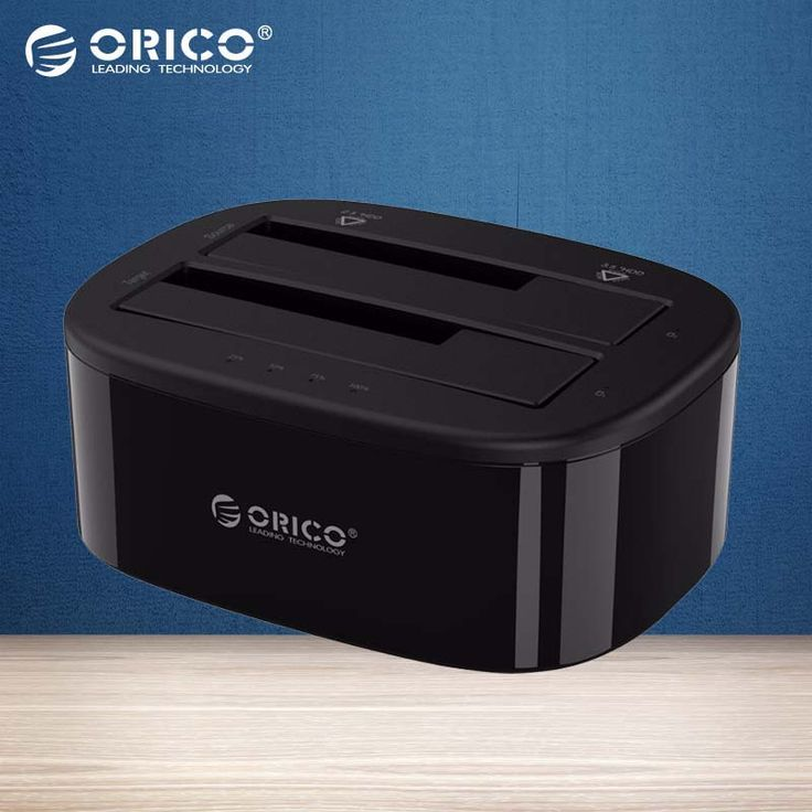 ORICO USB 3.0 to SATA Dual-Bay Hard Drive Docking Station for 2.5/3.5 inch HDD/SSD with Offline Clone Function [UASP Protocol] //Price: $47.10 & FREE Shipping //     #hashtag4