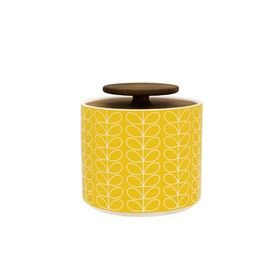 Orla Kiely - Linear Stem Storage Jar - Small Yellow: Stems Storage, Orla Kiely, Yellow Orla, Orla Housewar, Storage Jars, Linear Stems, Houses Wish Lists, Memorial Jars, Adore Orla