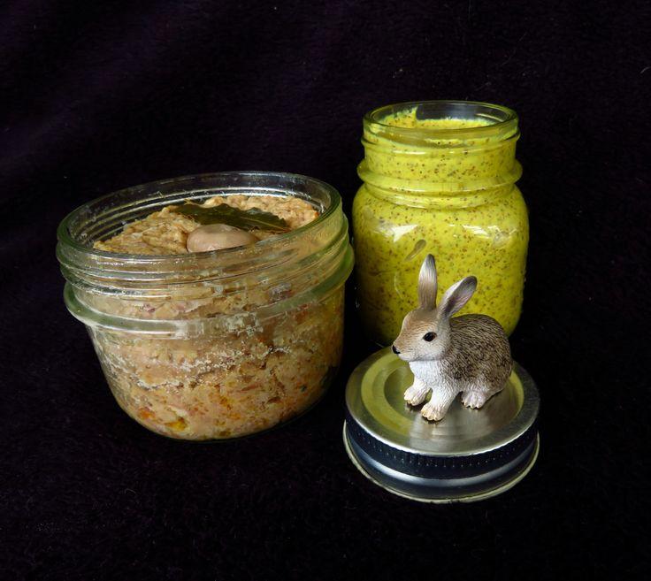 Rillettes de lapin et moutarde Thermomix. Maison Musette