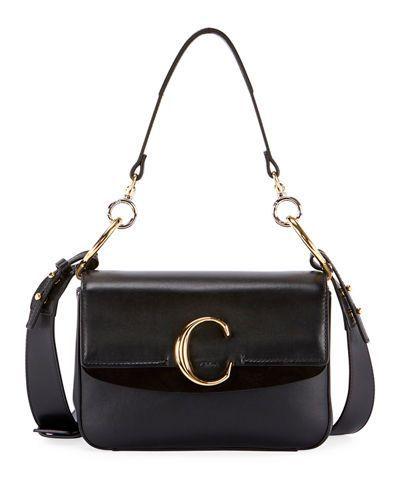 V4312 Chloe C Small Shiny Calf Leather Shoulder Bag  f1cd411d2b