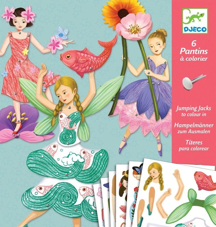 Djeco - Paper Puppets Fairy Craft Kit  Stocking fillers for cousins  #entropywishlist #pintowin