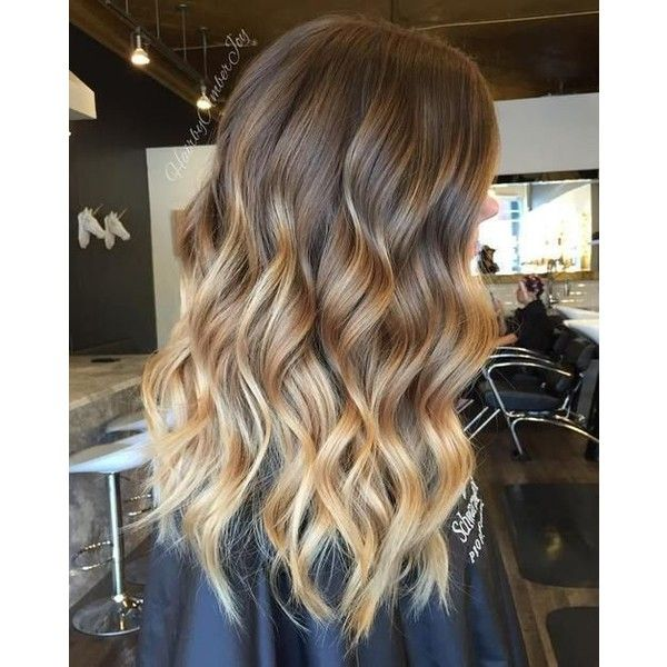 40 Beautiful Blonde Balayage Looks ❤ liked on Polyvore featuring beauty products, haircare, hair, hairstyles and curling iron
