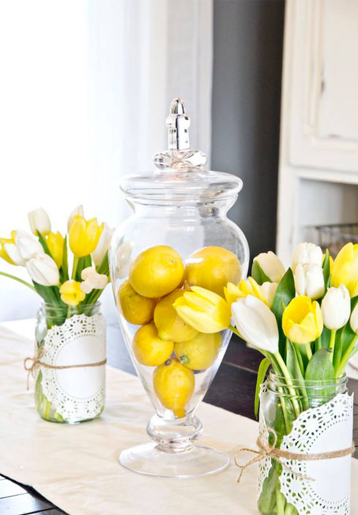 Here Comes The Sun: Lemon & Yellow DIY Easter Centerpiece Décor