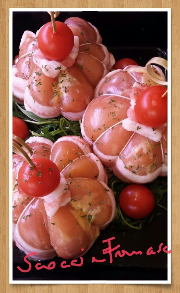 Fagottini di pollo ripieni...pronto cuoci presso macelleria Scoccia Francesco