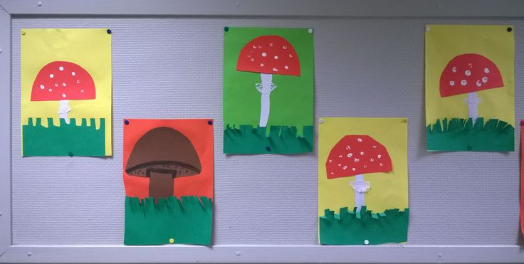 Syksyn sieniä (1.lk)