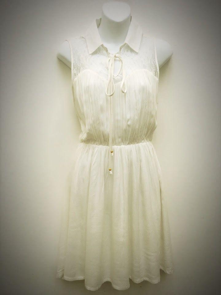Short White Dress   The Design House