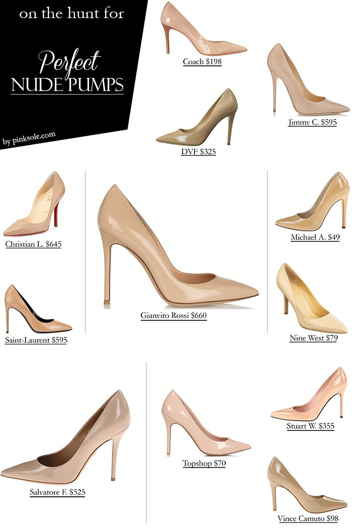 I'm a bit of a shoe nerd, so I have many requirements when buying shoes. They have to be well crafted, comfortable and of course beautiful. That's not too much to asked right? Well I've been obsessing over finding the perfect nude pumps. I want something that fits the look I'm going for (pointy toe with 4 inch+ heels like the Jimmy Choo pair), and that does not murder my feet. My favorite in this list is the Gianvito Rossi, but I worry about comfort so I know the Salvatore Ferragamo would be…