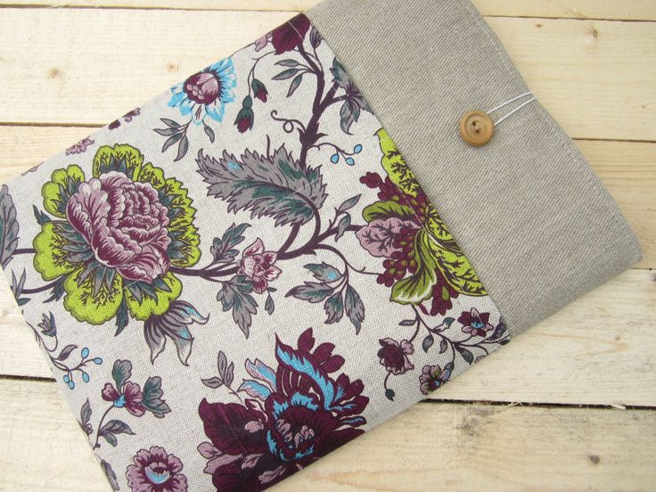 Linen flowers MacBook Air/Pro 13 sleeve with pockets, MacBook Pro 13 sleeve, Mac Pro 13 case, MacBook Pro 13 Retina sleeve, MacBook Air 11 by CasesLab on Etsy