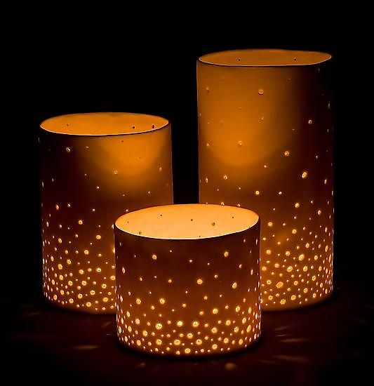 You could easily make a DIY version of these Luminaries