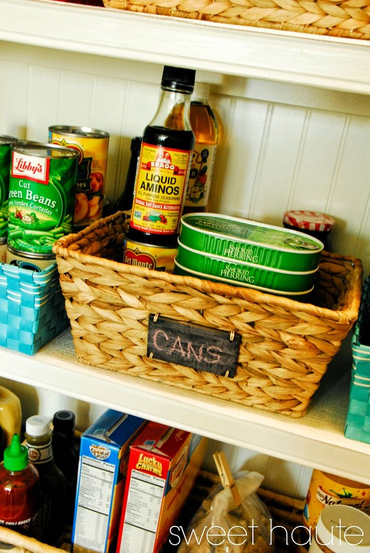 *SWEET HAUTE*: Pantry Organization- Fit and Happy makeover redo before and after images blog post storage ideas, labels, baskets, bins! Pin now....read laters!!