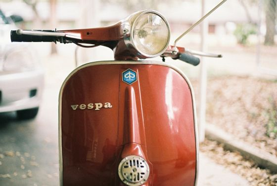 """red headed step child"" - vintage red vespa - colan mcgeehan"