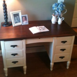 refinishing bedroom furniture ideas. refinished desk idea for office love that the top is still cherry stain to tie in bedroom furniture refinishing ideas